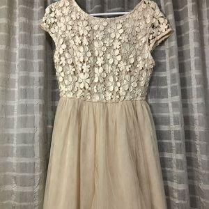 Forever 21 Cream Dress